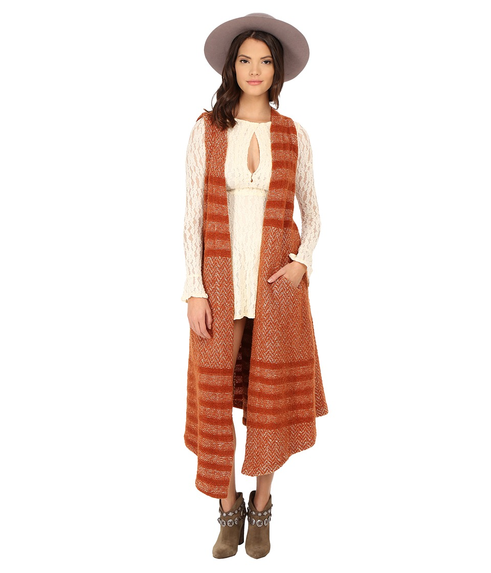 Free People - Queens Park Maxi Vest (Burnt Sienna Combo) Women's Vest