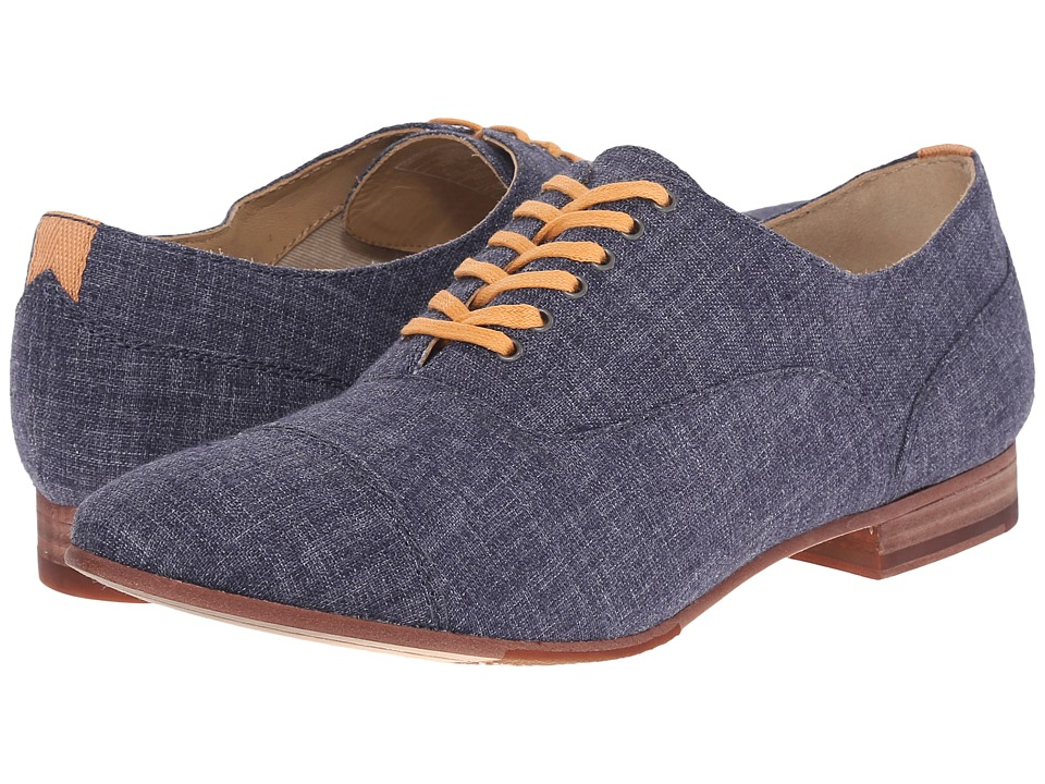 Sebago - Hutton Cap Toe (Navy Linen) Women's Lace Up Cap Toe Shoes