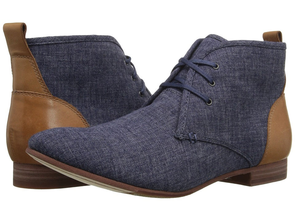 Sebago Hutton Chukka (Navy Linen/Tan Leather) Women