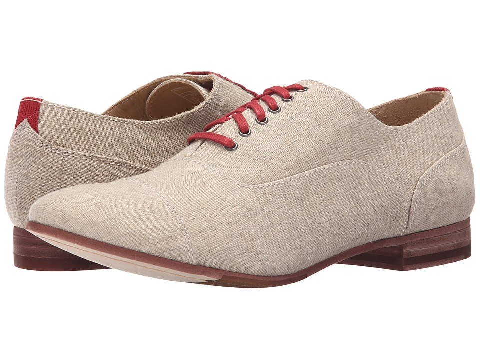 Sebago Hutton Cap Toe (Natural Linen) Women