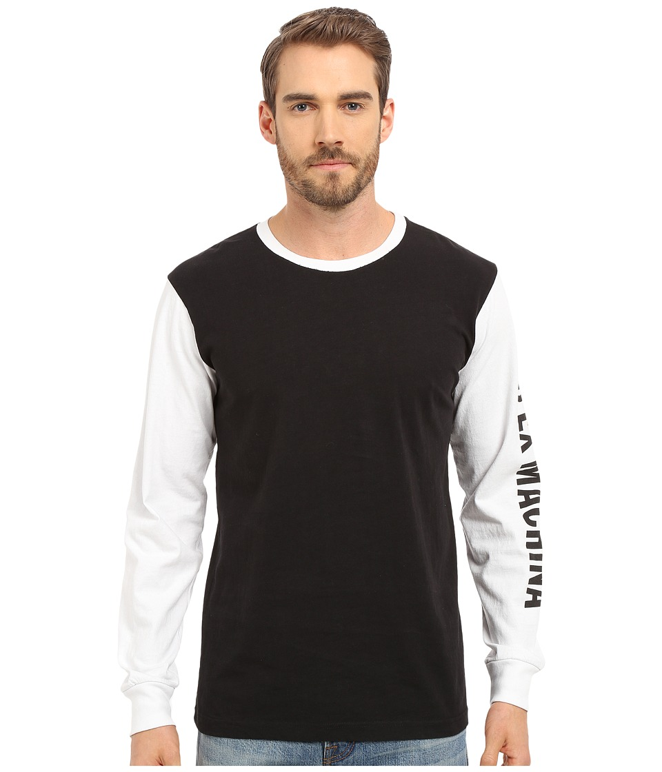 Deus Ex Machina - Frank Sleez Long Sleeve Tee (Black/White ) Men's T Shirt