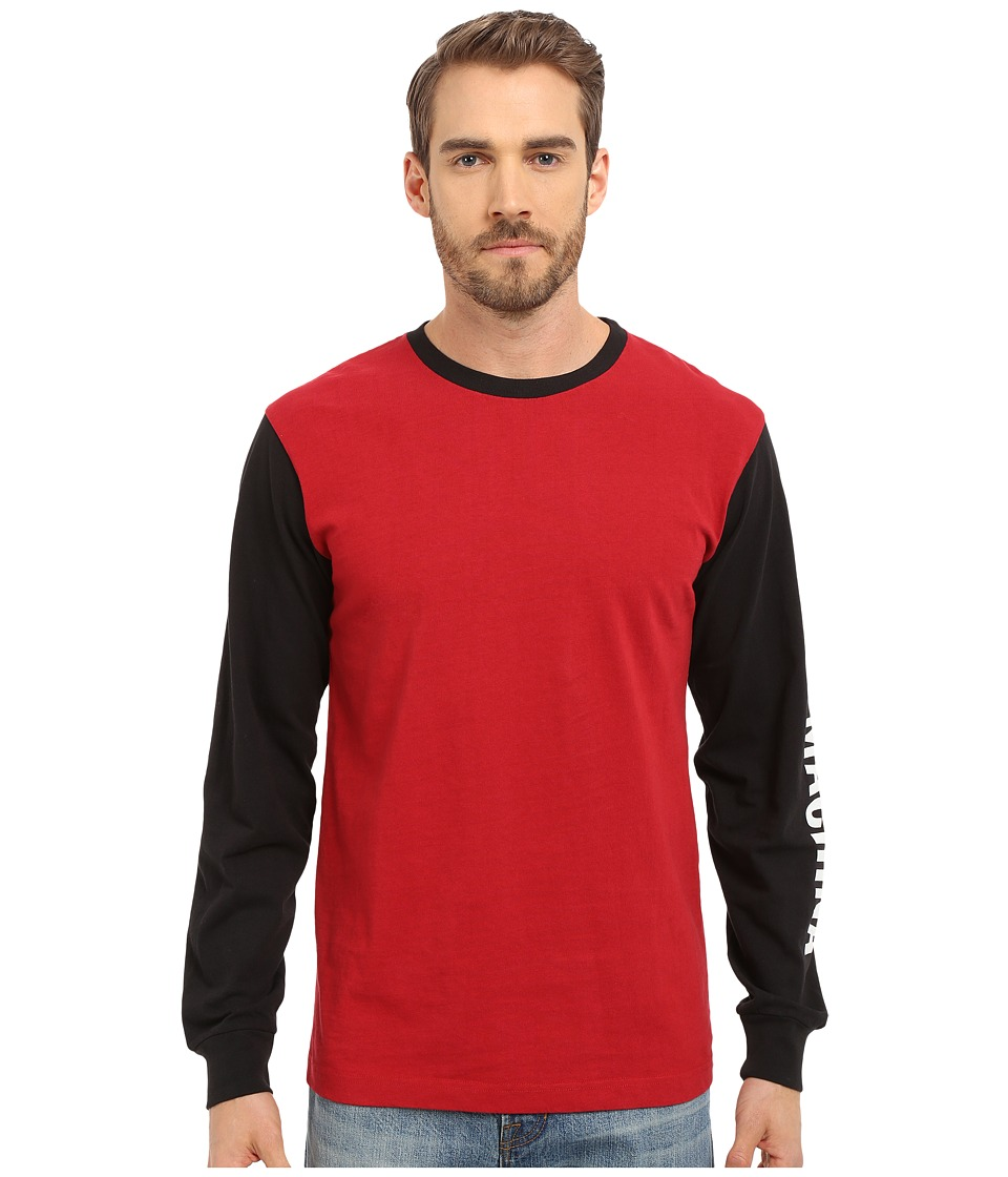 Deus Ex Machina - Frank Sleez Long Sleeve Tee (Red/Black ) Men's T Shirt