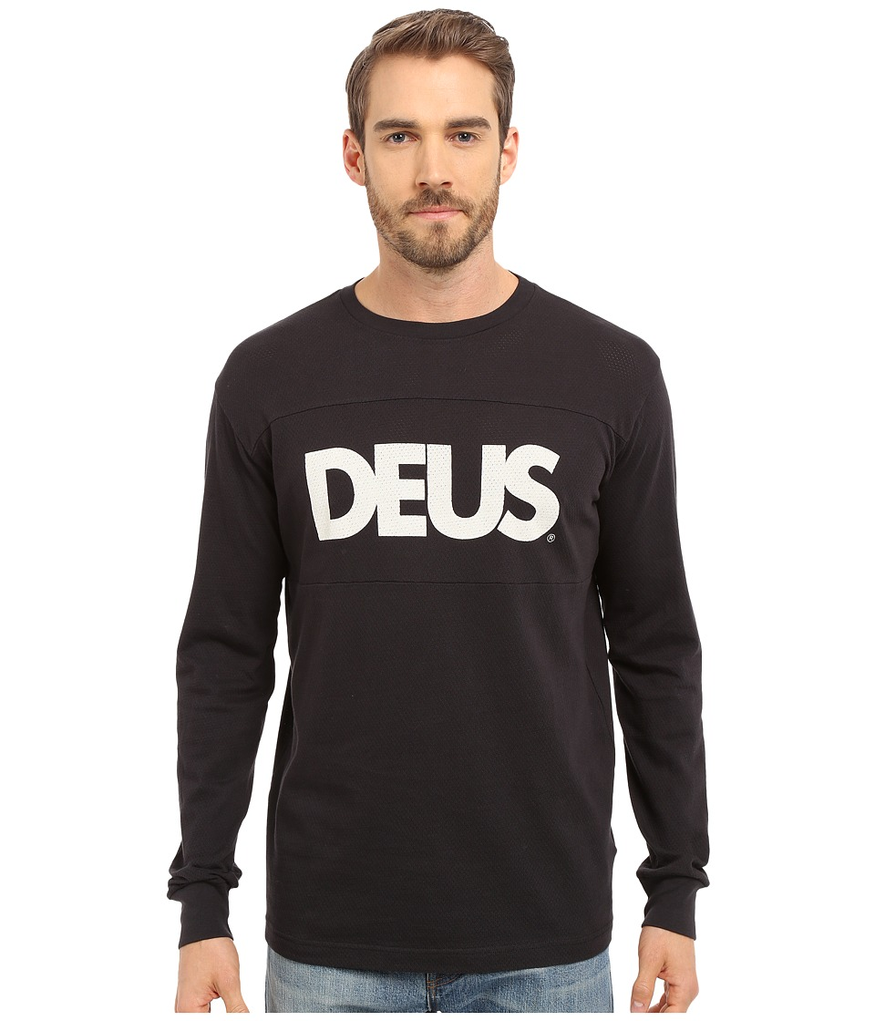 Deus Ex Machina - Moto Mesh Long Sleeve Tee (Black) Men's T Shirt