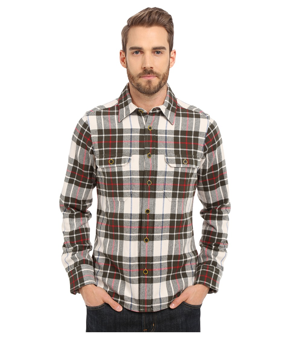 Deus Ex Machina - Maxwell Overshirt (Grey Check) Men's Long Sleeve Button Up