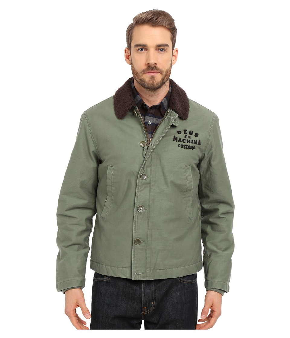 Deus Ex Machina - Deck Jacket (Army Green) Men's Coat