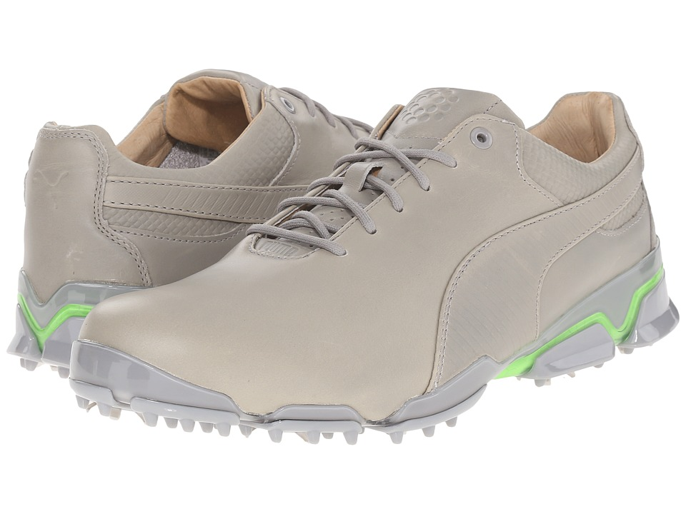 PUMA Golf - Titantour Ignite Premium (Drizzle/Green Gecko) Men's Golf Shoes