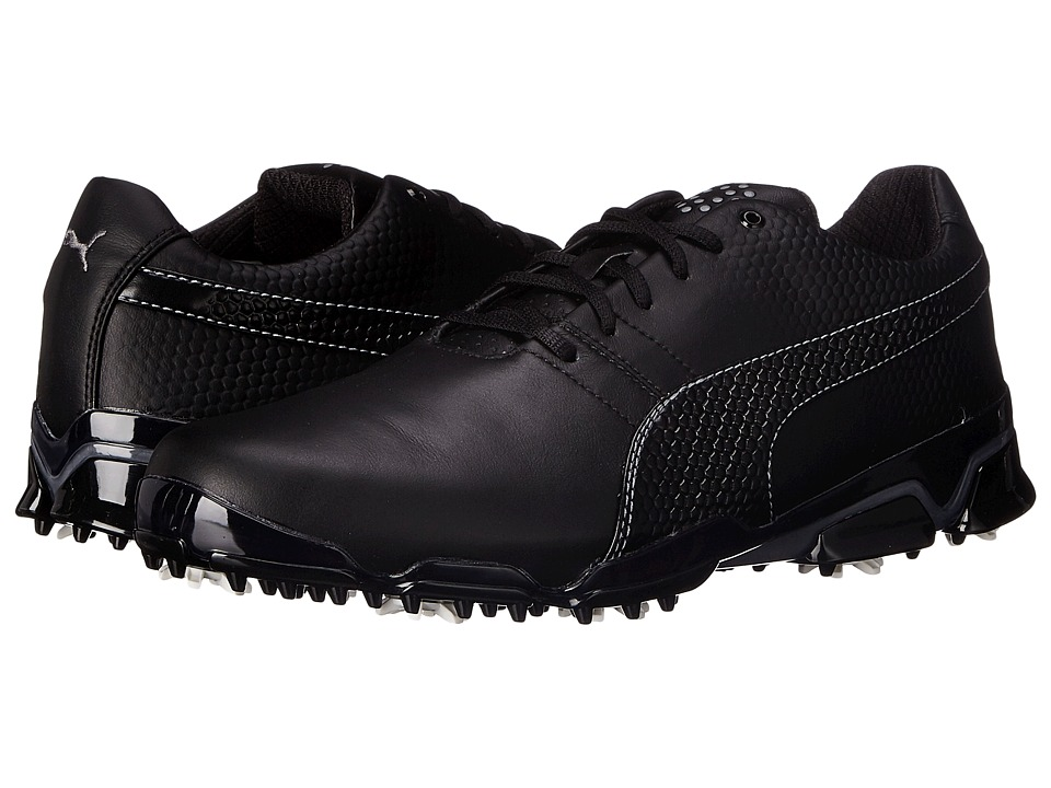 PUMA Golf - Titantour Ignite (Black/Steel Gray) Men's Golf Shoes