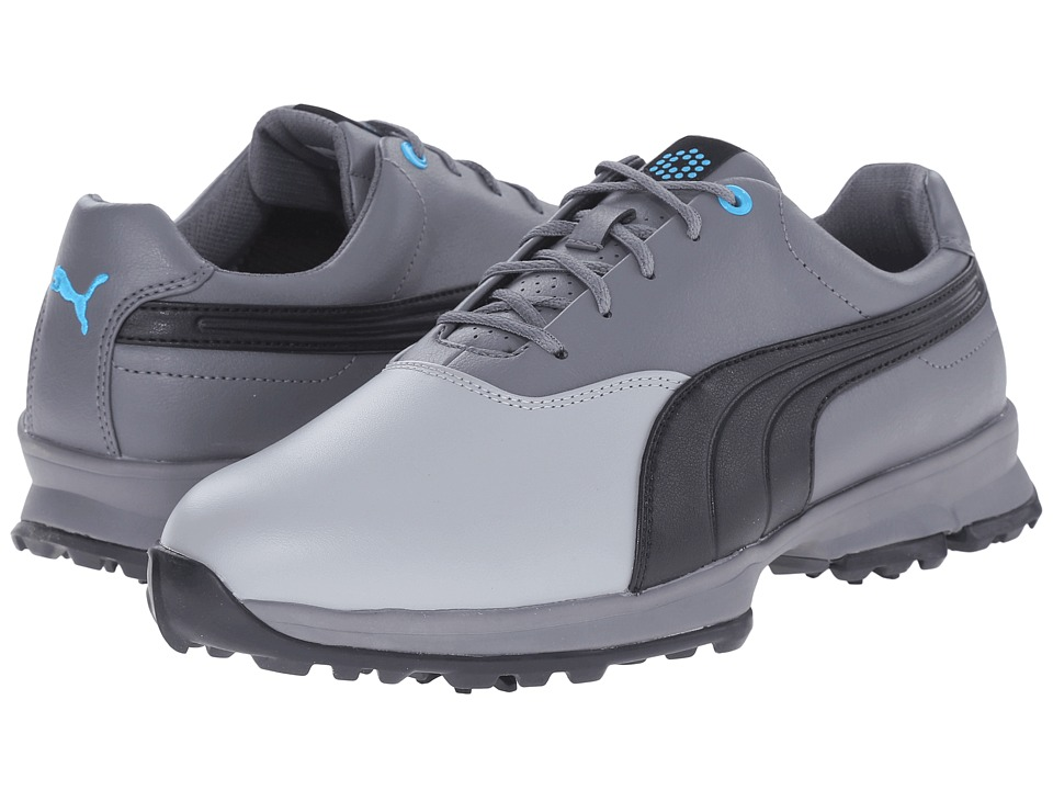 PUMA Golf - Golf Ace (Limestone Gray/Black/Steel Gray) Men's Golf Shoes
