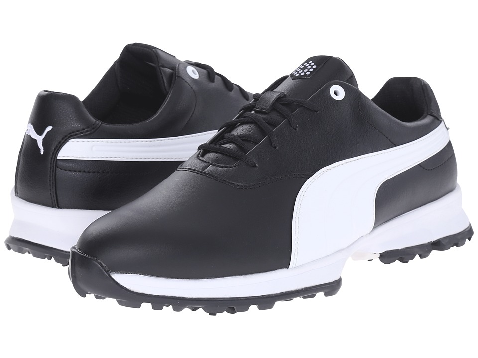 PUMA Golf - Golf Ace (Black/White) Men's Golf Shoes