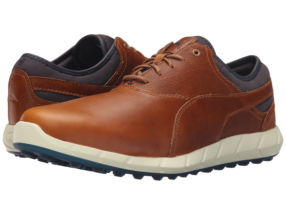PUMA Golf - Ignite Golf (Chipmunk/Peacoat) Men's Golf Shoes