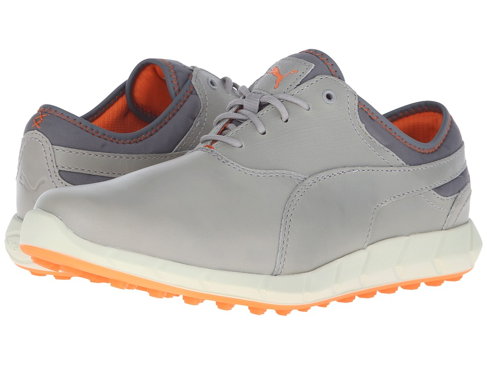 PUMA Golf - Ignite Golf (Drizzle/Vibrant Orange) Men's Golf Shoes