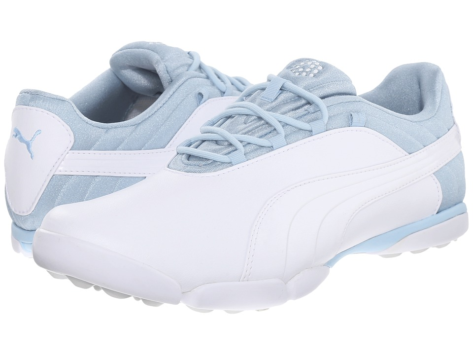 PUMA Golf - Sunnylite V2 (White/Cool Blue/Gray Violet) Women's Golf Shoes