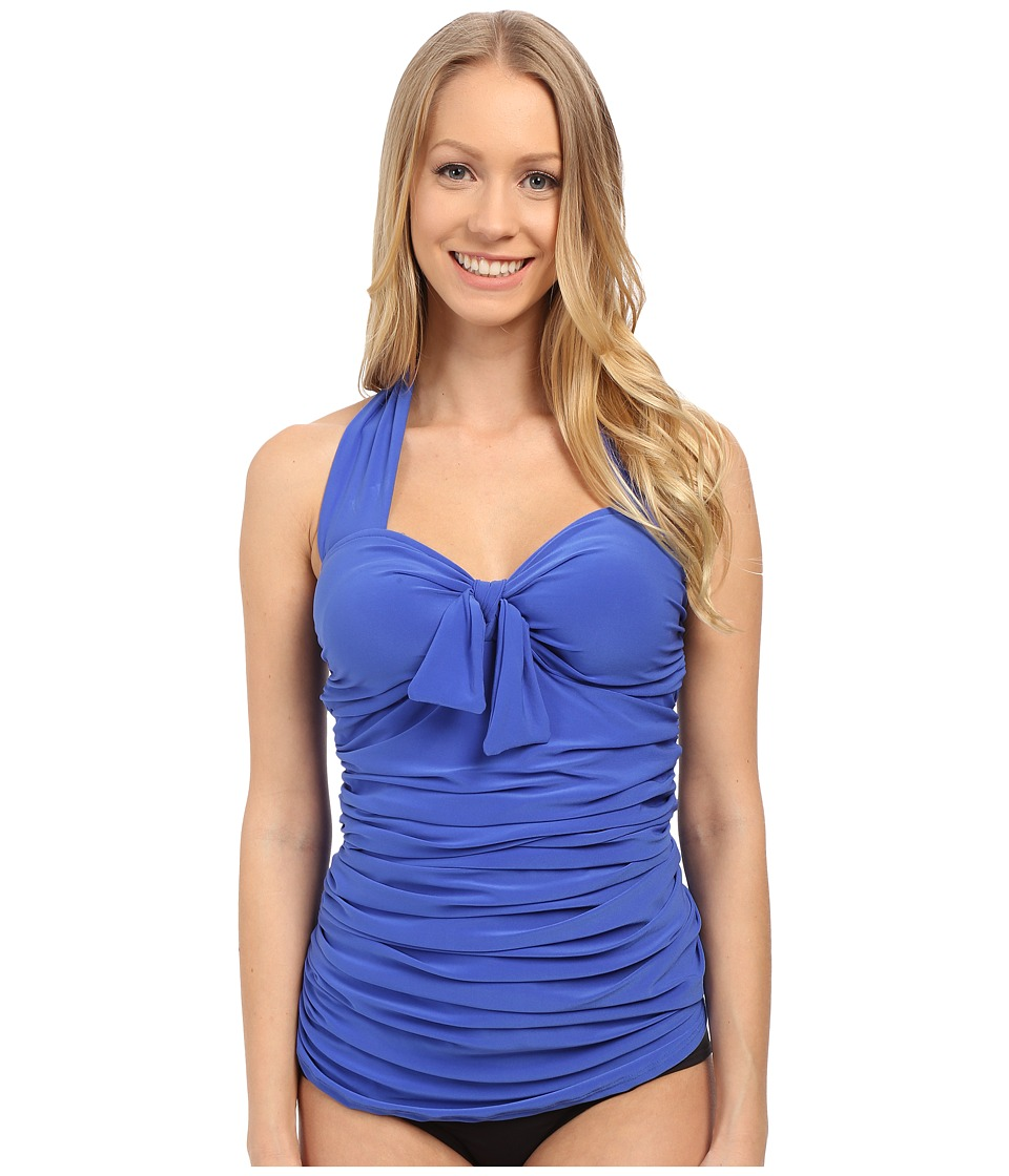 Magicsuit Solid Jules Tankini Top Electric Blue Swimwear