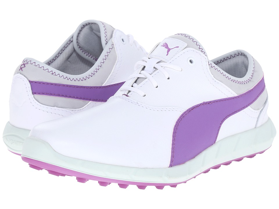 PUMA Golf - Ignite Golf (White/Purple Cactus Flower/Glacier Gray) Women's Golf Shoes
