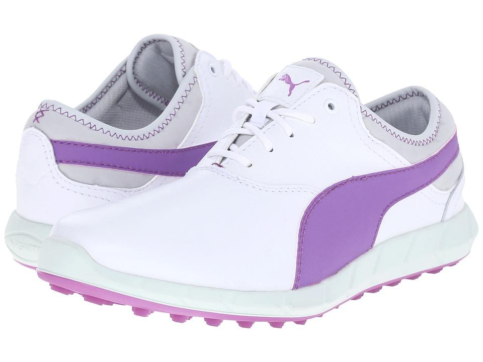 PUMA Golf - Ignite Golf (White/Purple Cactus Flower/Glacier Gray) Women's Golf Shoes