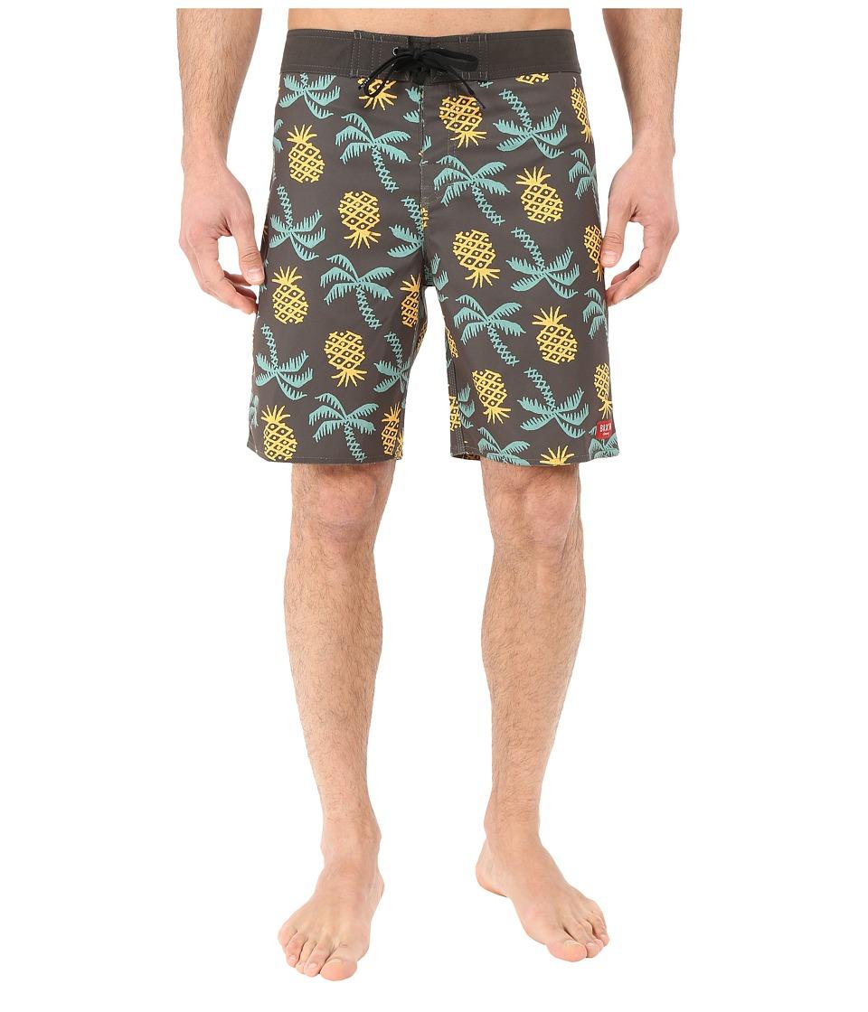 Brixton - Barge Trunks (Washed Black) Men's Swimwear