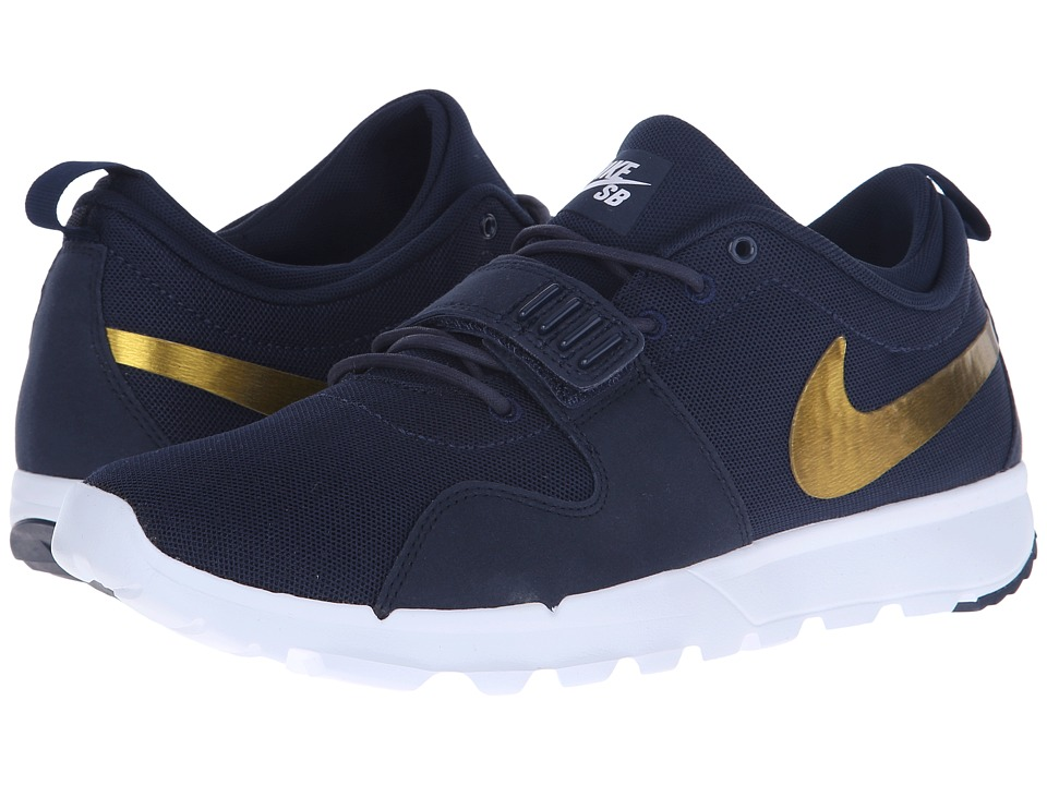 Nike SB - Trainerendor (Obsidian/Metallic Gold/White) Men's Skate Shoes
