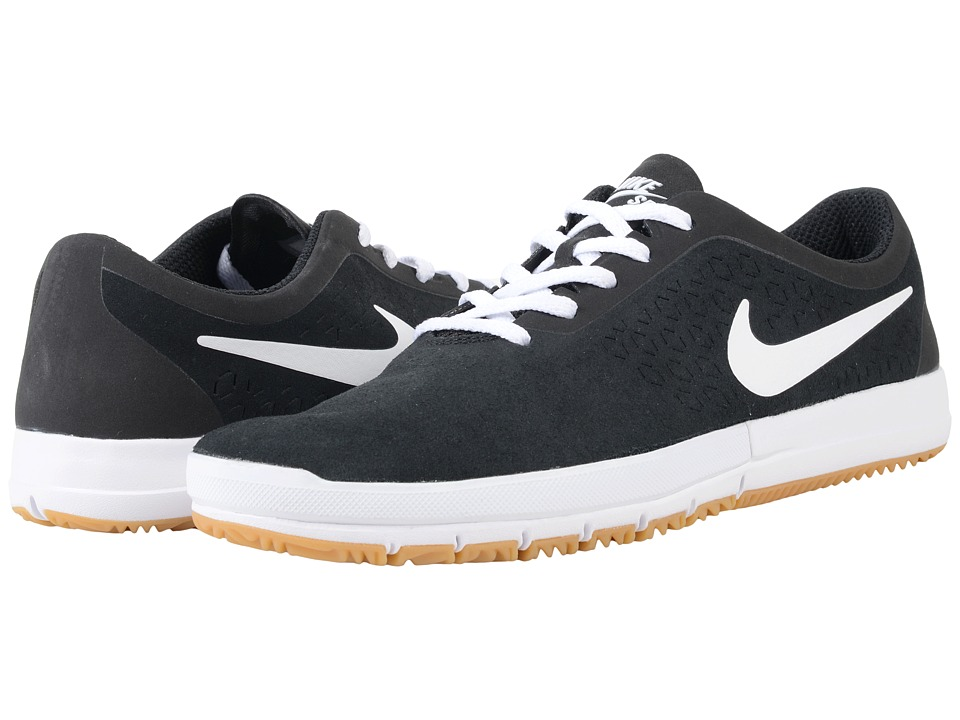 Nike SB - Free SB Nano (Black/White/Gum Light Brown) Men's Skate Shoes