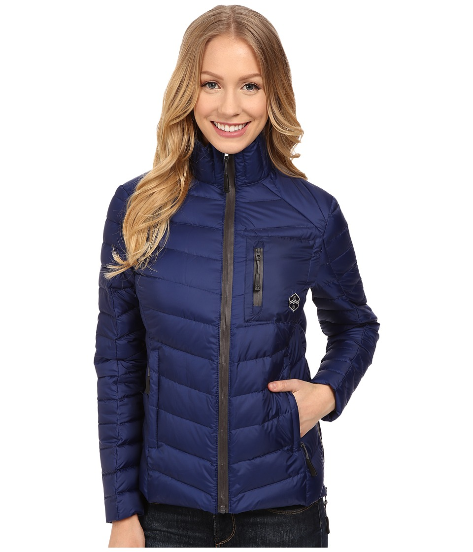 Khombu - Lightweight Puff Coat (Navy) Women's Coat