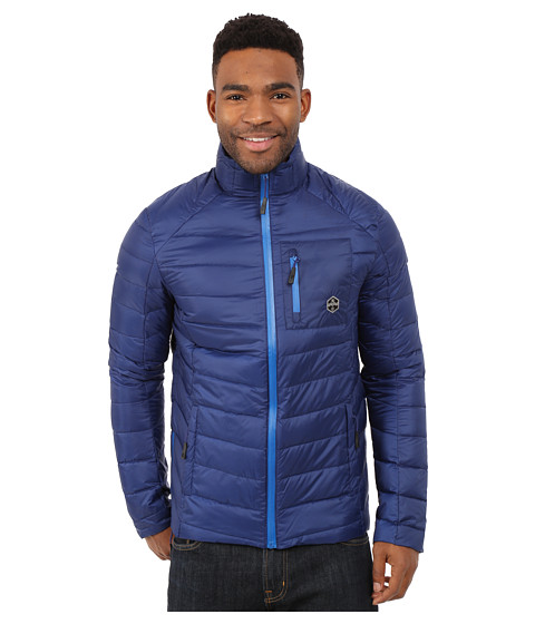 Khombu - Lightweight Puff Coat (Navy) Men's Coat