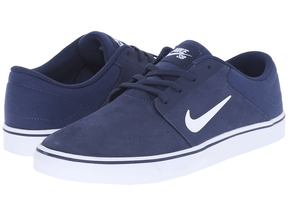 Nike SB - Portmore (Mid Navy/White/Gum Light Brown) Men's Skate Shoes