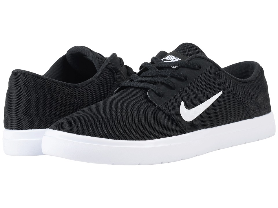 Nike SB Portmore Ultralight Mesh (Black/White/Black) Men