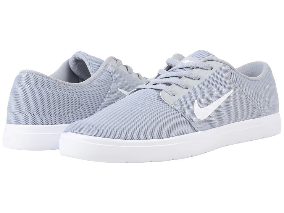 Nike SB - Portmore Ultralight Mesh (Wolf Grey/White/Cool Grey) Men's Skate Shoes