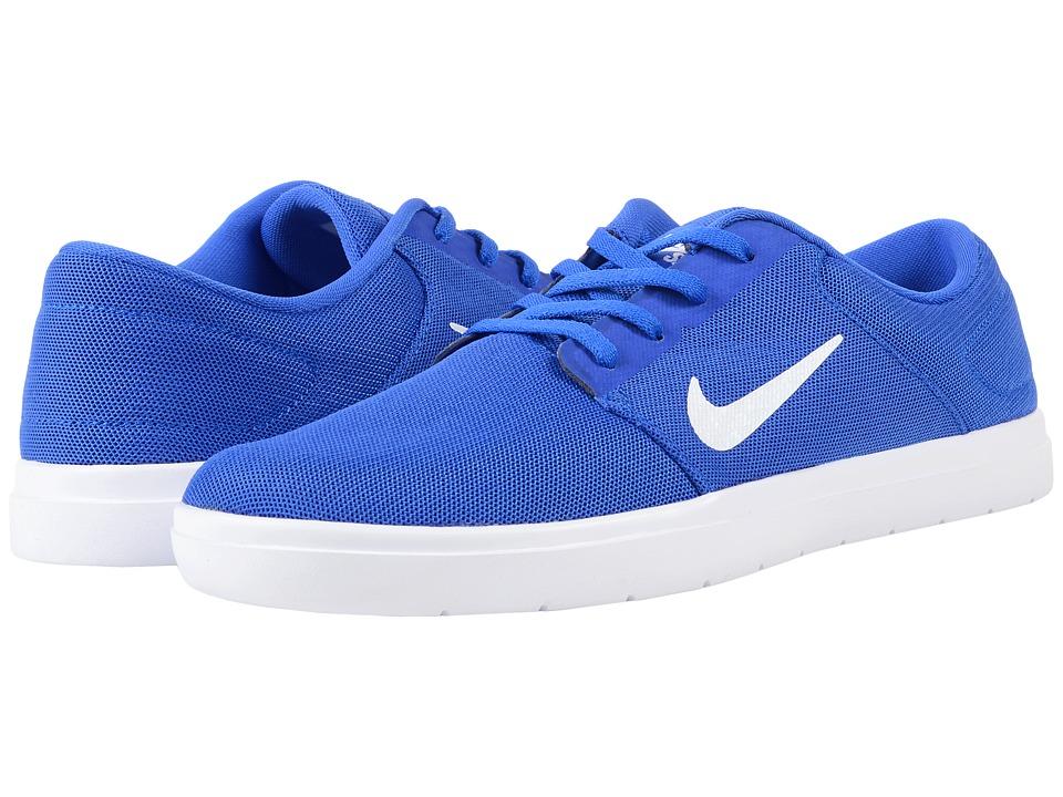 Nike SB - Portmore Ultralight Mesh (Racer Blue/White/Deep Royal Blue) Men's Skate Shoes