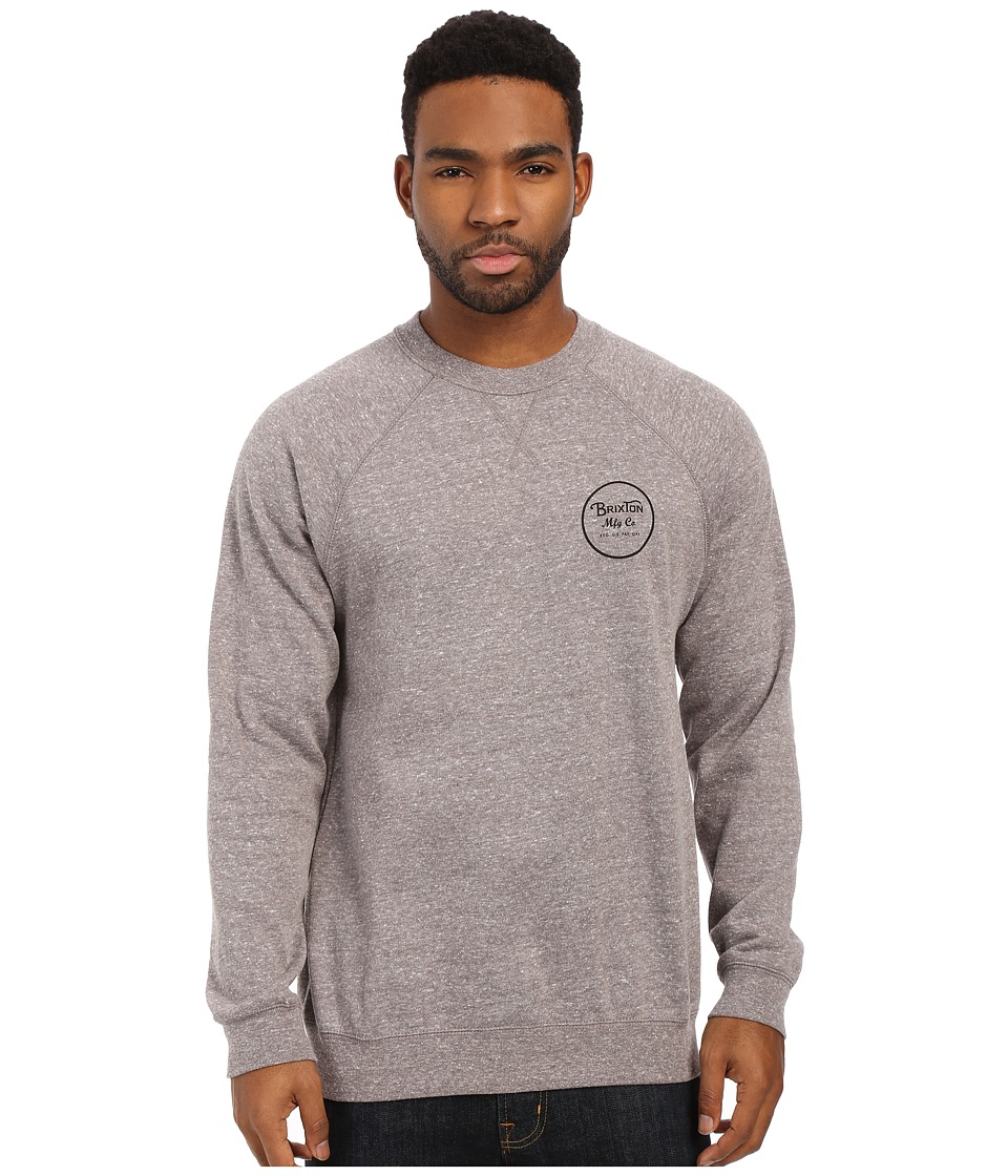 Brixton - Wheeler Crew Fleece (Heather Grey) Men's Sweatshirt