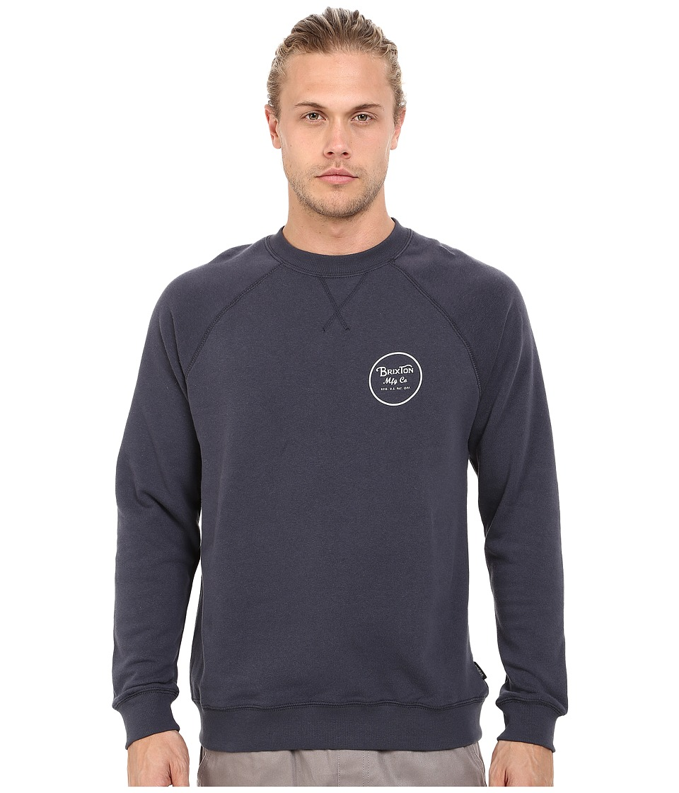 Brixton - Wheeler Crew Fleece (Indigo) Men's Sweatshirt