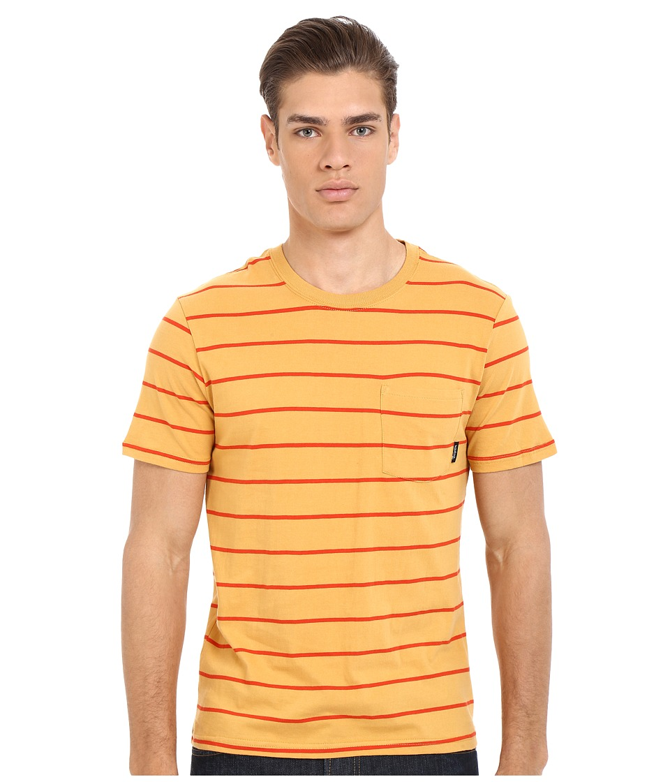 Brixton - Hilt Short Sleeve Pocket Knit (Gold) Men's Short Sleeve Pullover