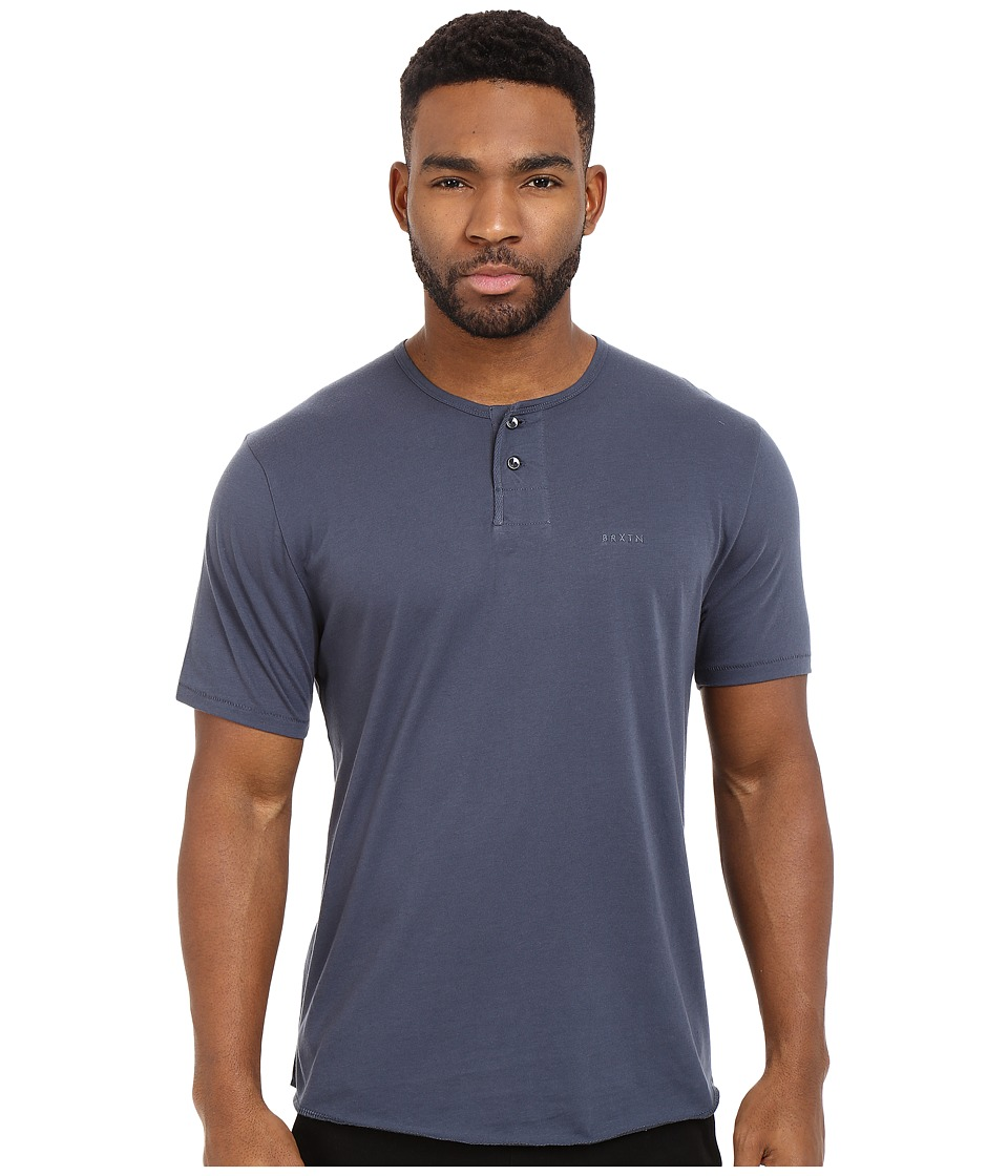 Brixton - Berkeley Short Sleeve Henley (Indigo) Men's Short Sleeve Pullover