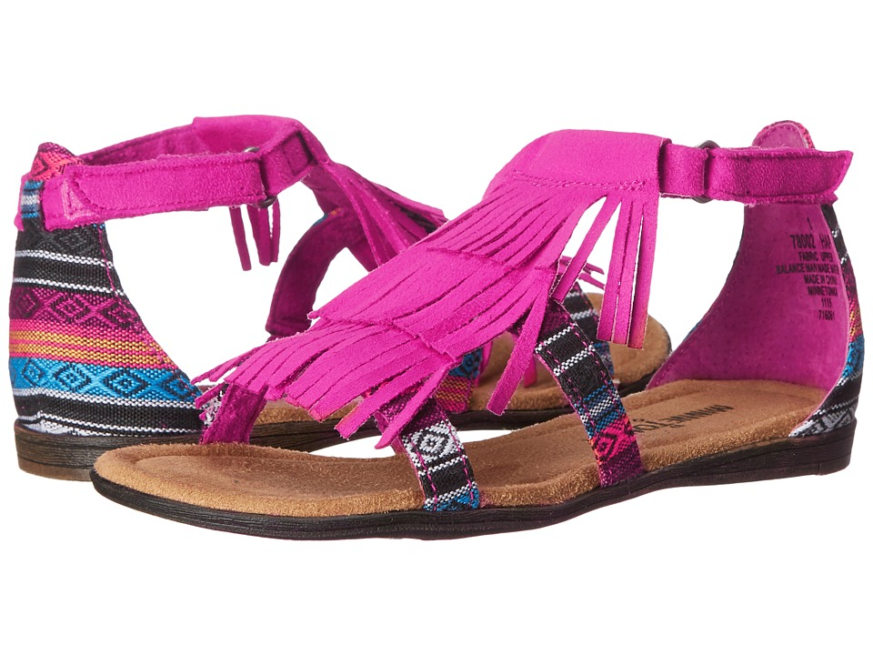 Minnetonka Kids - Maya (Little Kid/Big Kid) (Hot Pink/Arizona) Girl's Shoes