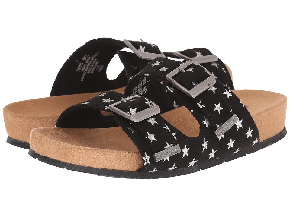 Minnetonka Kids - Gigi (Toddler/Little Kid/Big Kid) (Black) Girls Shoes
