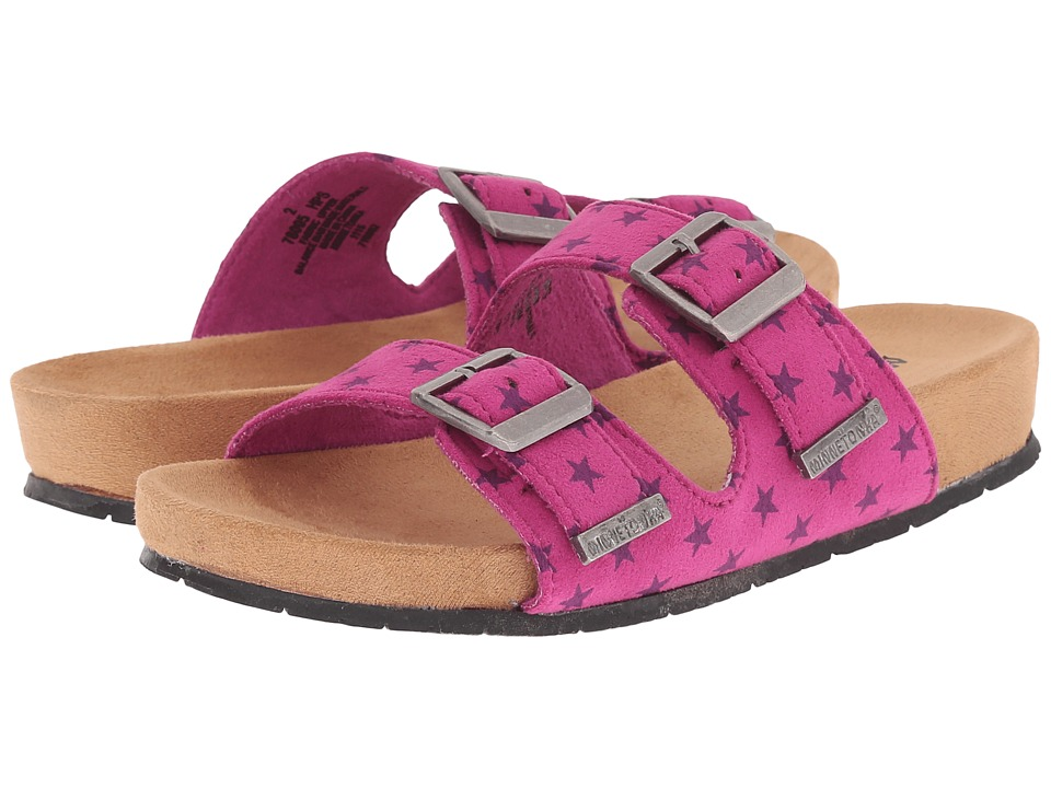 Minnetonka Kids - Gigi (Toddler/Little Kid/Big Kid) (Hot Pink) Girls Shoes
