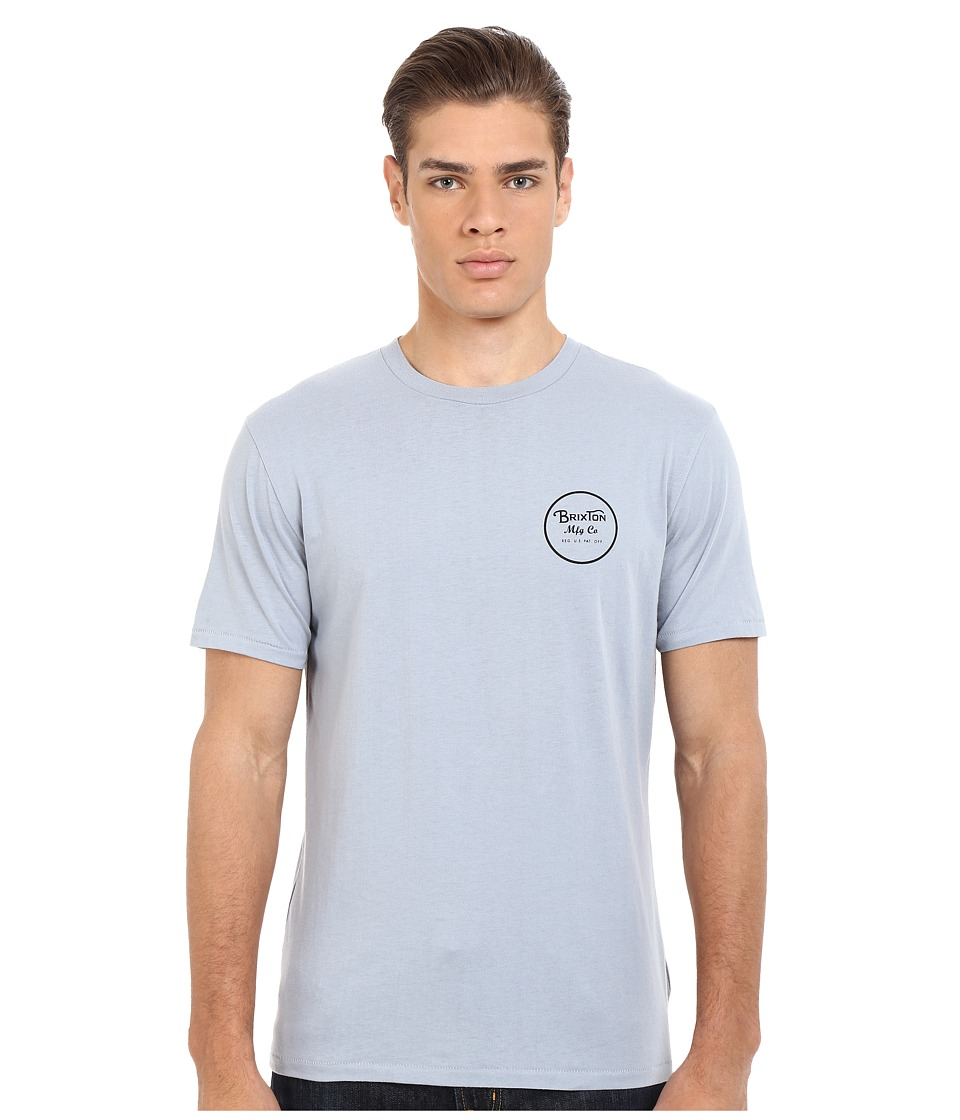 Brixton - Wheeler Short Sleeve Premium Tee (Denim) Men's T Shirt