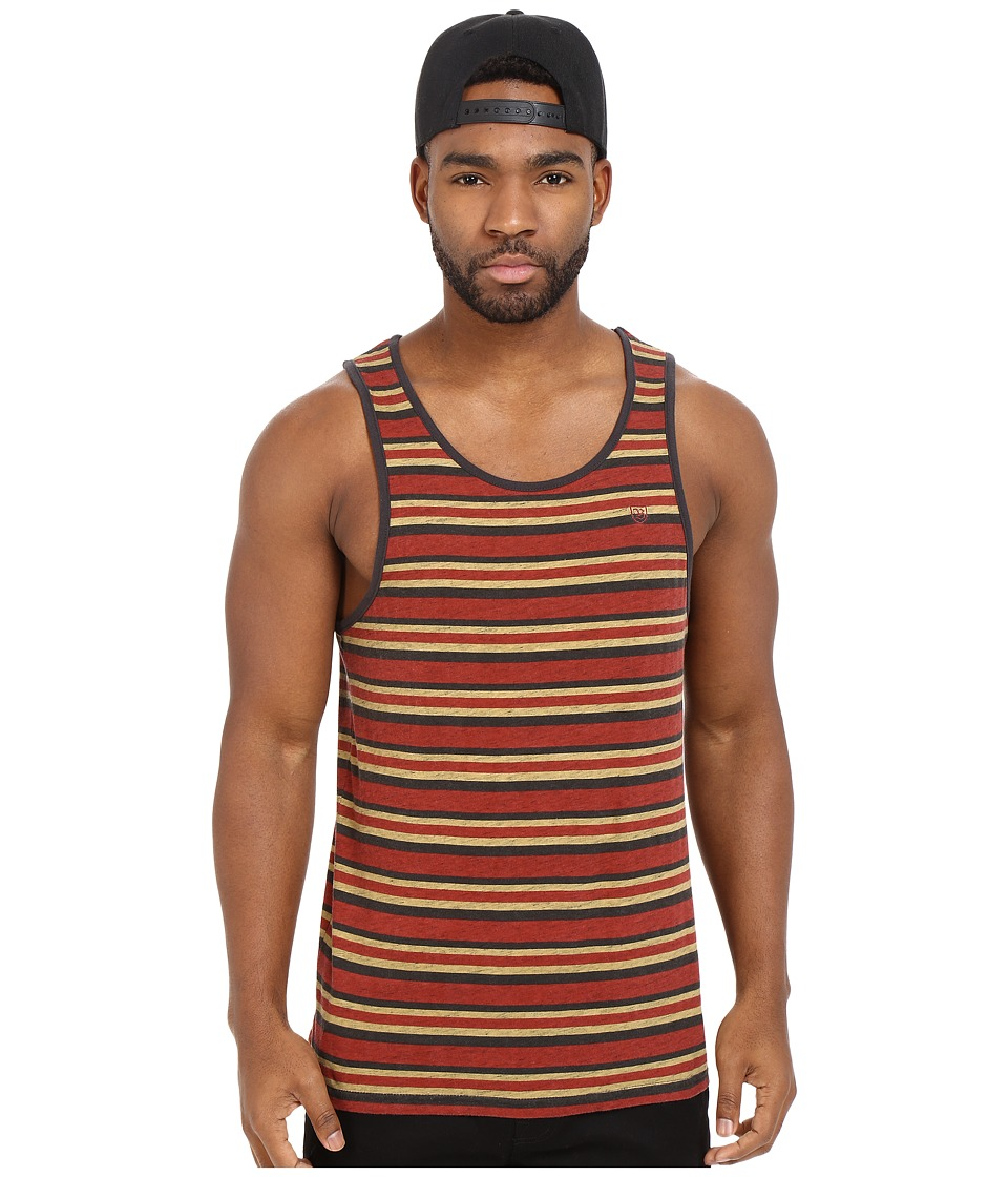Brixton - Clove Tank Top (Burgundy) Men's Sleeveless