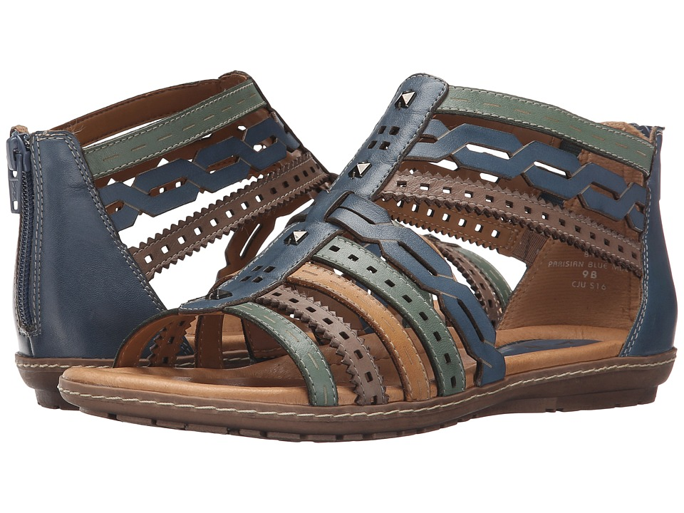 Earth - Bay (Parisian Blue Multi Soft Calf) Women's Sandals