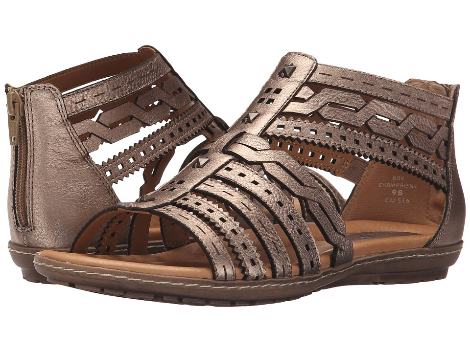 Earth - Bay (Champagne Metallic Leather) Women's Sandals