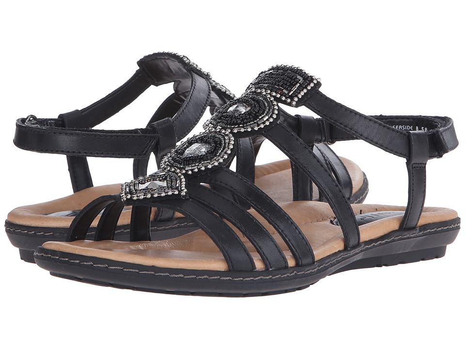 Earth - Seaside (Black Soft Calf) Women's Sandals