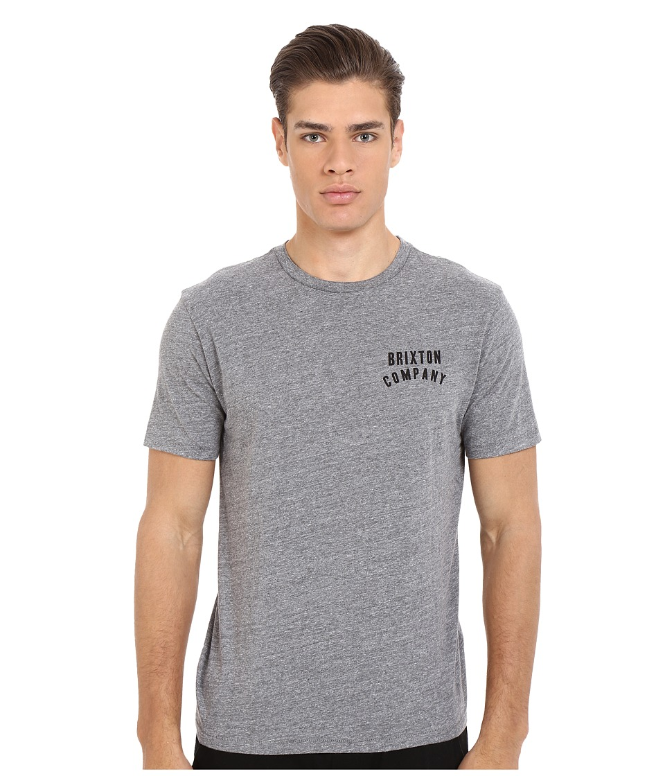 Brixton - Woodburn Short Sleeve Premium Tee (Heather Grey) Men's T Shirt