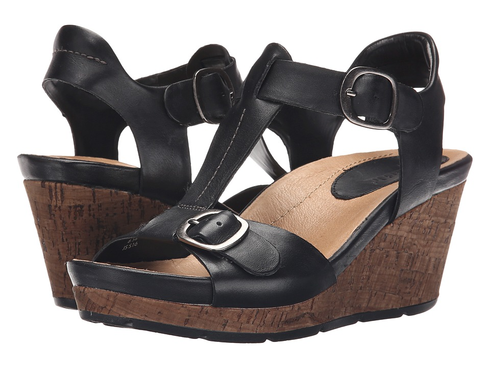 Earth - Scorpio (Black Soft Calf) Women's Wedge Shoes