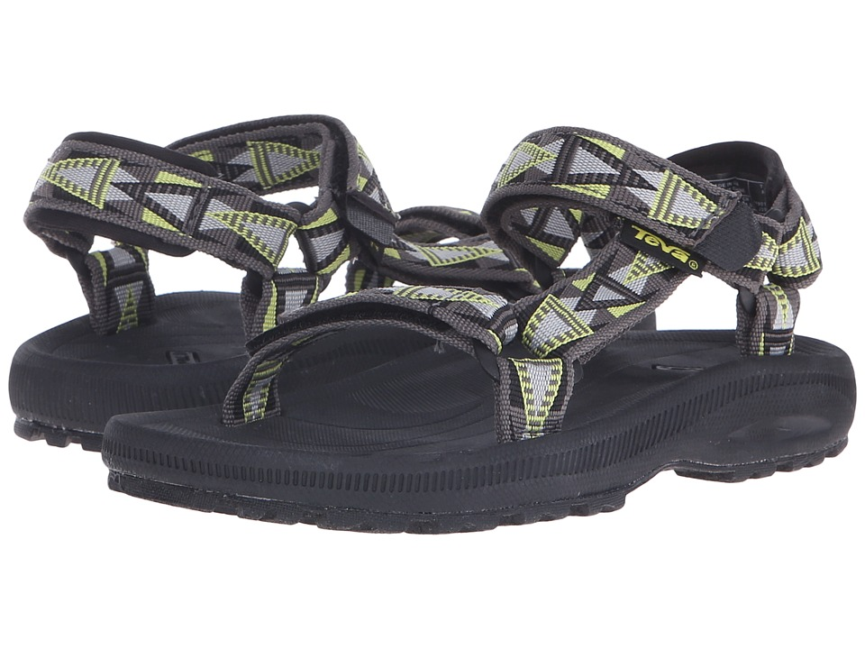 Teva Kids - Hurricane 2 (Little Kid/Big Kid) (Mosaic Grey/Lime) Boy's Shoes