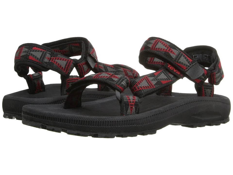 Teva Kids - Hurricane 2 (Little Kid/Big Kid) (Mosaic Black/Grey/Red) Boy's Shoes