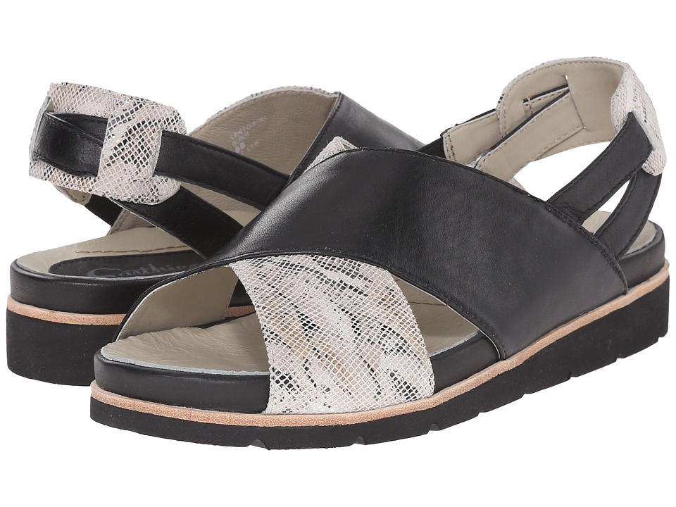 Earth - Santorini Earthies (Black Silky) Women's Sandals
