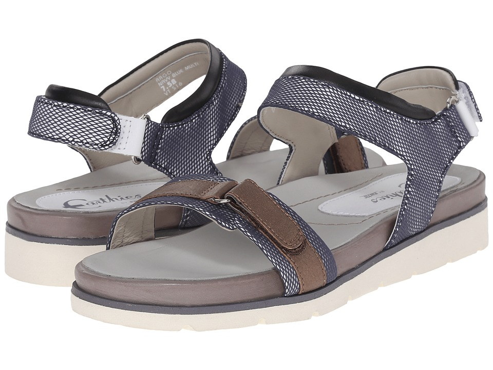 Earth - Argo Earthies (Navy Blue Multi Linen Mesh) Women's Sandals
