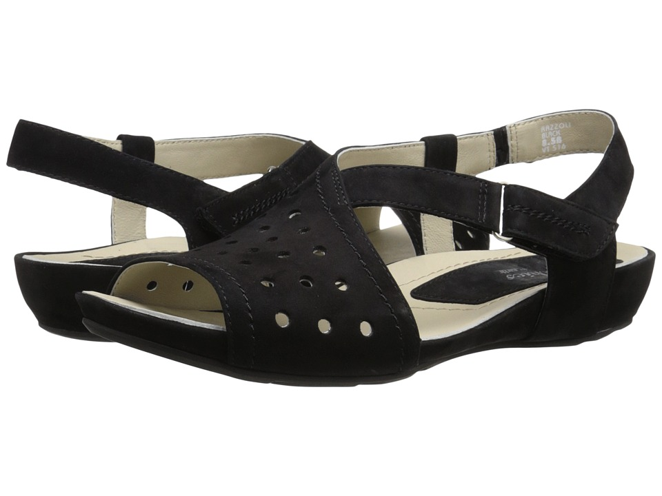 Earth - Razzoli Earthies (Black Soft Buck) Women's Dress Sandals
