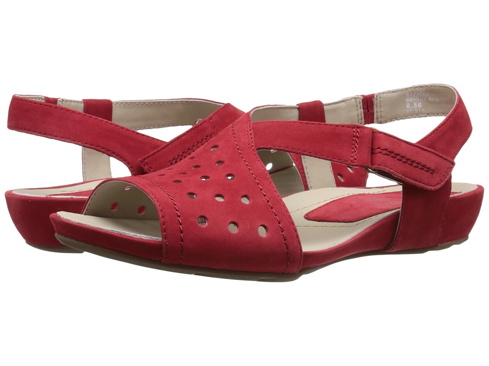 Earth - Razzoli Earthies (Bright Red Soft Buck) Women's Dress Sandals