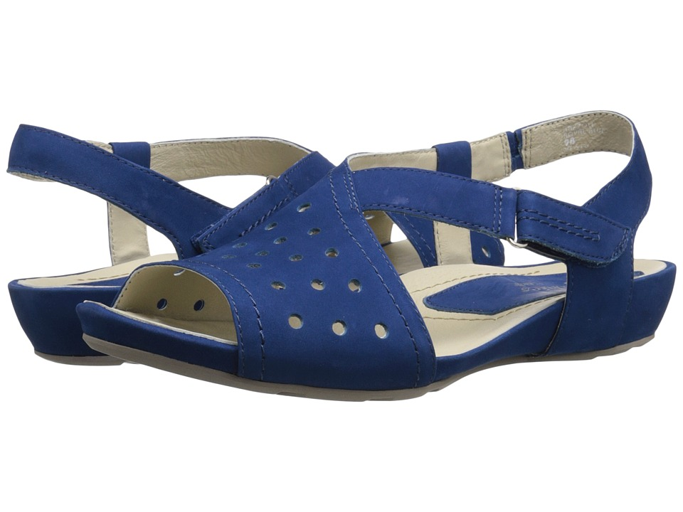 Earth - Razzoli Earthies (Royal Blue Soft Buck) Women's Dress Sandals
