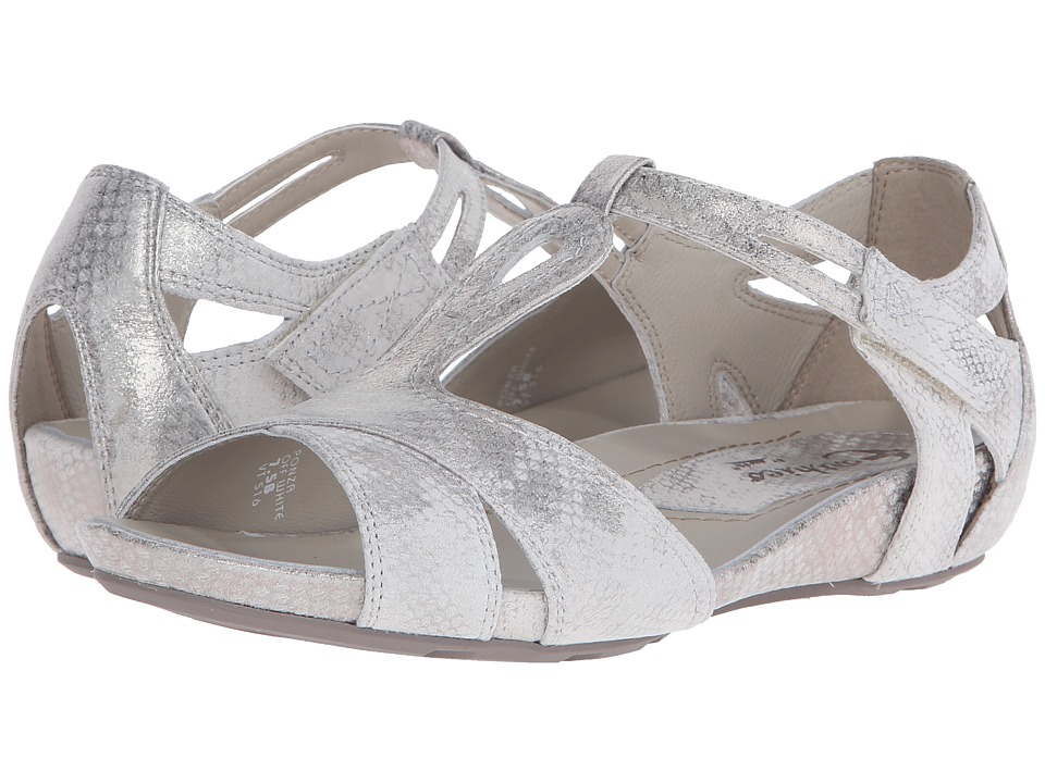 Earth Ponza Earthies (Off-White Metallic Snake Print) Women